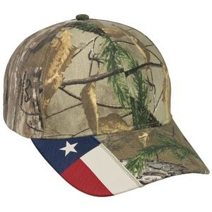 Camo Assorted Cap w/ Flag Accent on Visor
