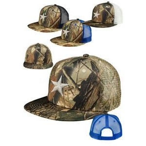 Camo Structured Twill Mesh Trucker Hats